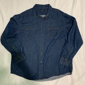 GEORGE long sleeve button up Chambray shirt XL